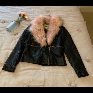 Other - Girl size 10-12 DKNY leather jacket NWOT